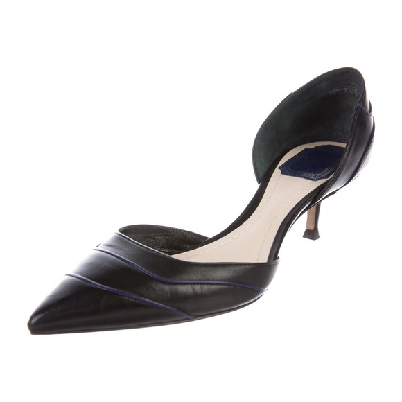 Christian Dior Leather D'Orsay Pumps